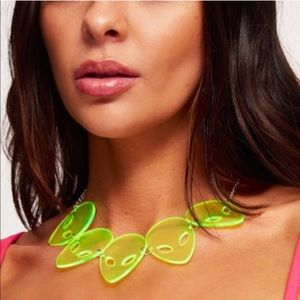 Fluorescent Green Alien Head Necklace any2 for $35